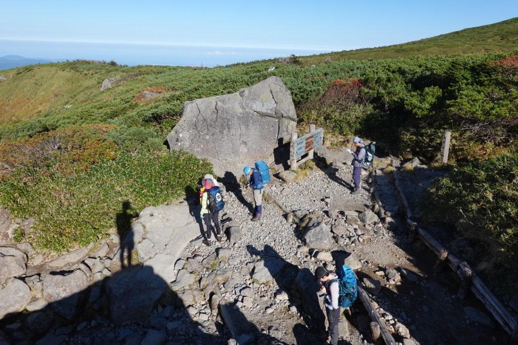 白山・黒ボコ岩・岩があったら登りたい年頃