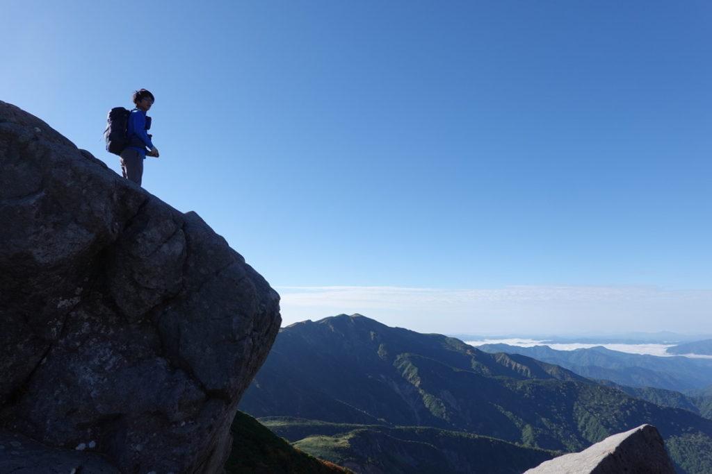 白山・相方と黒ボコ岩と別山