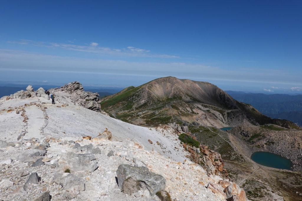 白山・御前峰から大汝峰へ