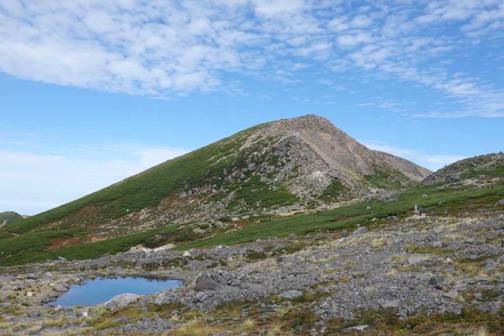 白山・大汝峰と五色池