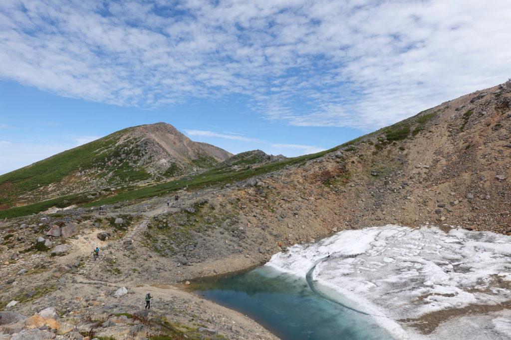 白山・大汝峰と千蛇ヶ池