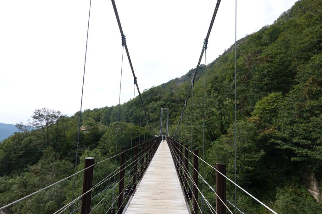 白山・別当出合近くの吊り橋