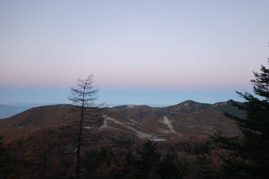 浅間山(前掛山)・黒斑コース・中コースからの車坂峠、高峰高原