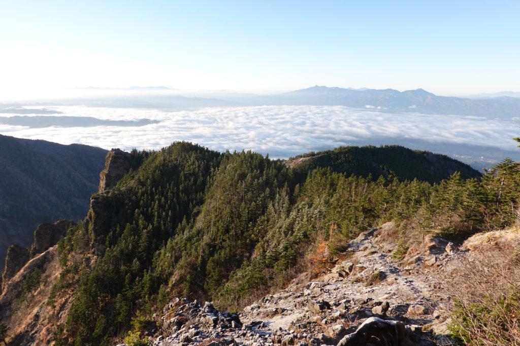 浅間山(前掛山)・浅間山外輪山・黒斑山からのトーミの頭