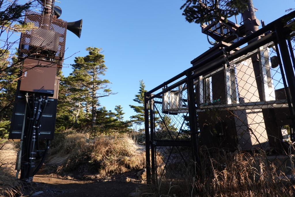 浅間山(前掛山)・浅間山外輪山・黒斑山の緊急放送用スピーカー