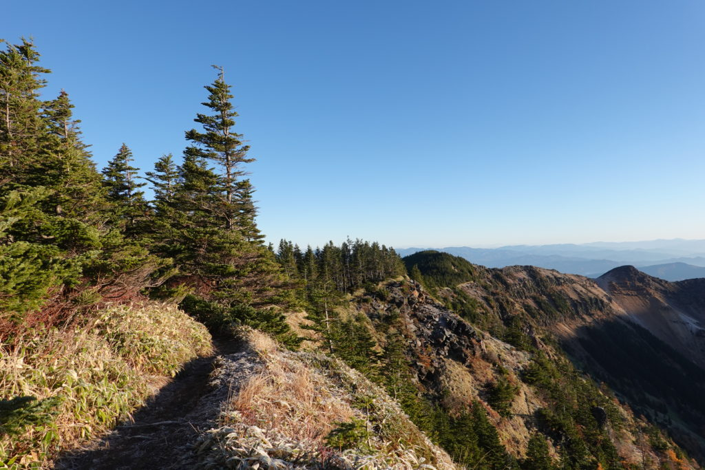浅間山(前掛山)・浅間山外輪山・黒斑山から蛇骨岳へ