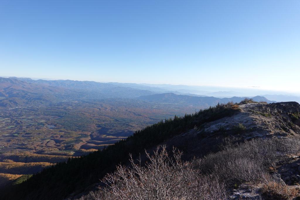 浅間山(前掛山)・浅間山外輪山・蛇骨岳から仙人岳へ至る道の展望
