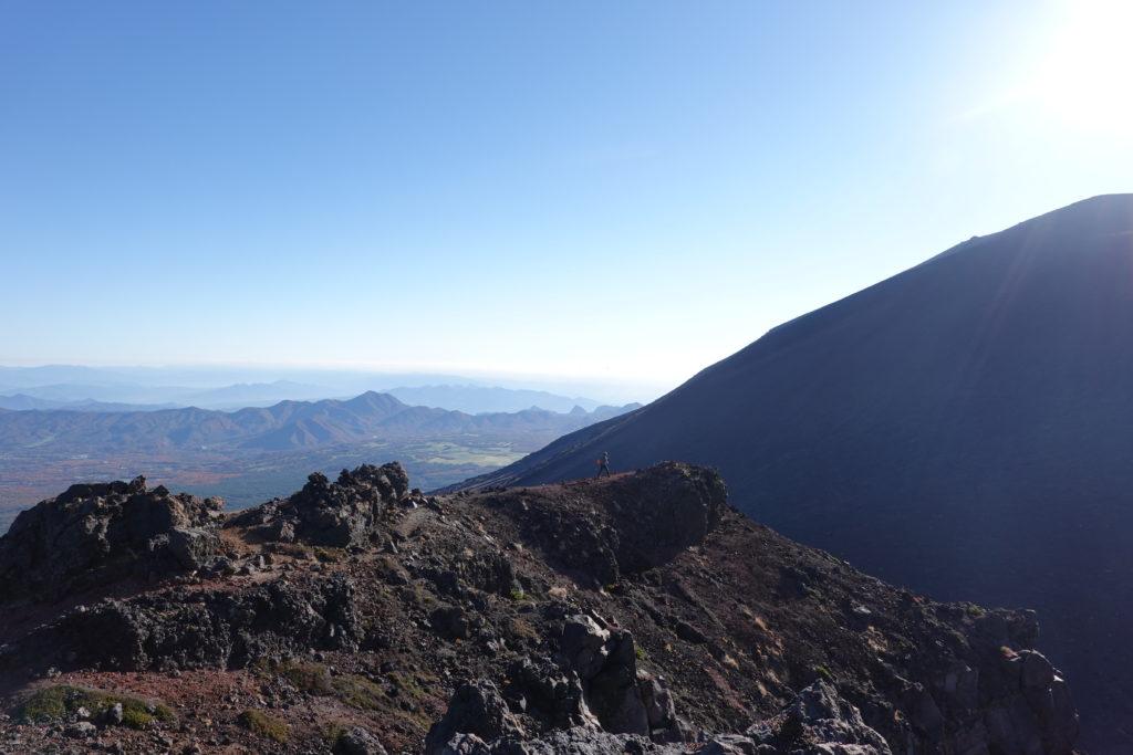浅間山(前掛山)・浅間山外輪山・Jバンドの分岐から鋸岳へ