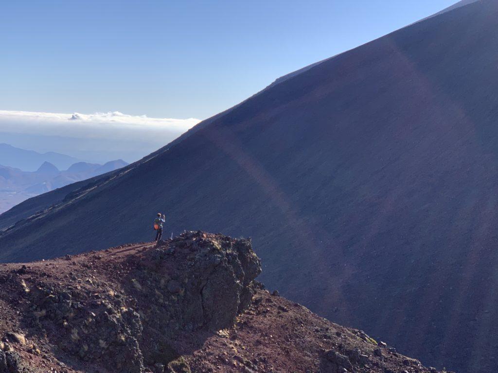 浅間山(前掛山)・浅間山外輪山・Jバンドの分岐から鋸岳へ2