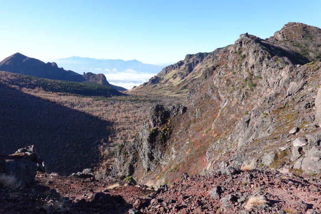 浅間山(前掛山)・浅間山外輪山・鋸岳からJバンドへ