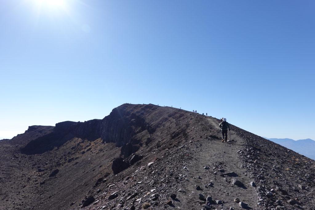 浅間山(前掛山)・前掛山山頂へ至る道