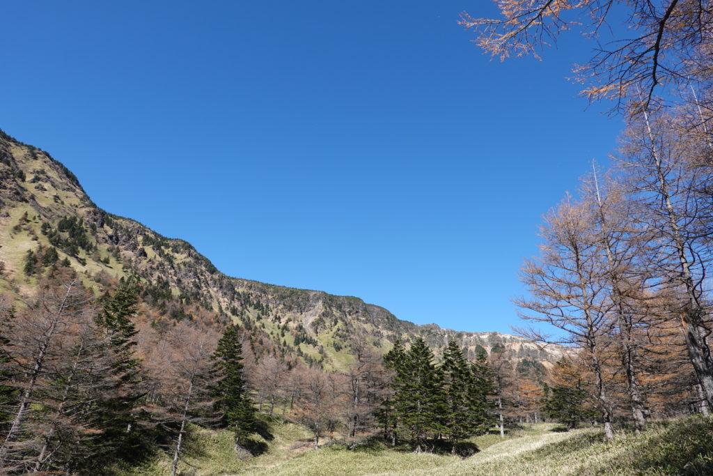 浅間山(前掛山)・湯ノ平口からの浅間山外輪山