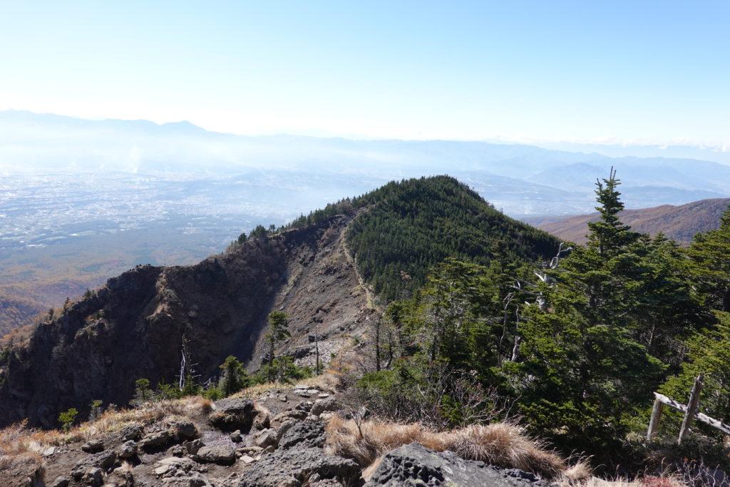 浅間山(前掛山)・トーミの頭から車坂峠へ