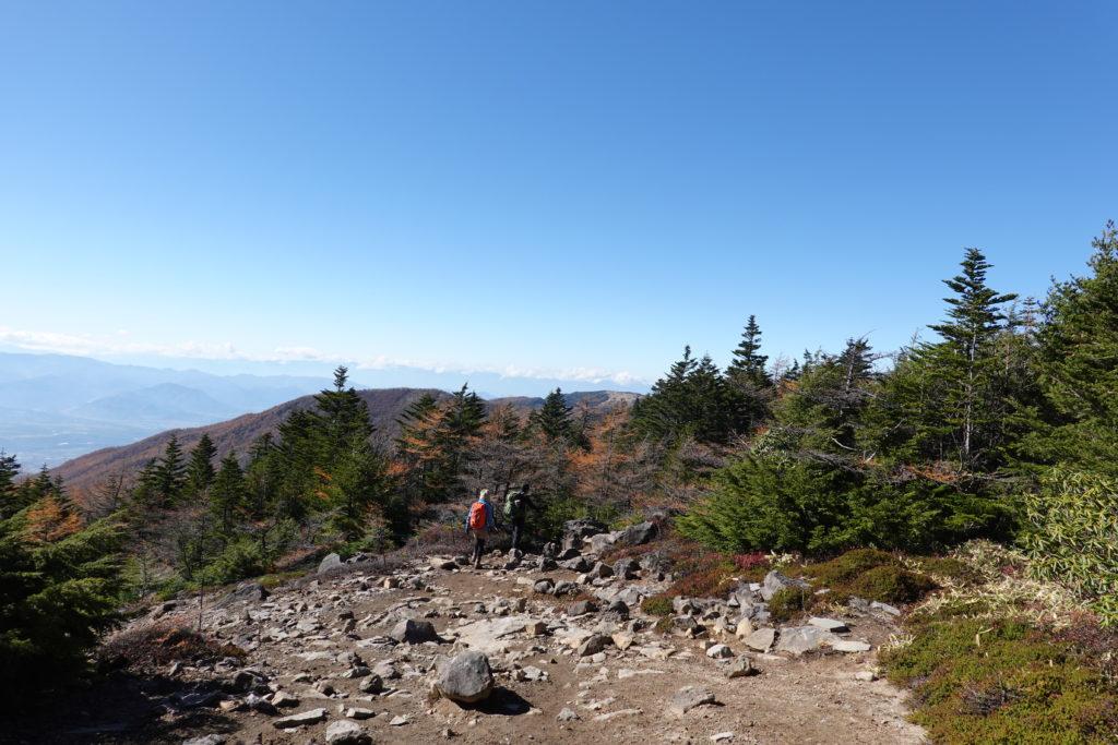 浅間山(前掛山)・黒斑コース・表コース、ひらけたところ