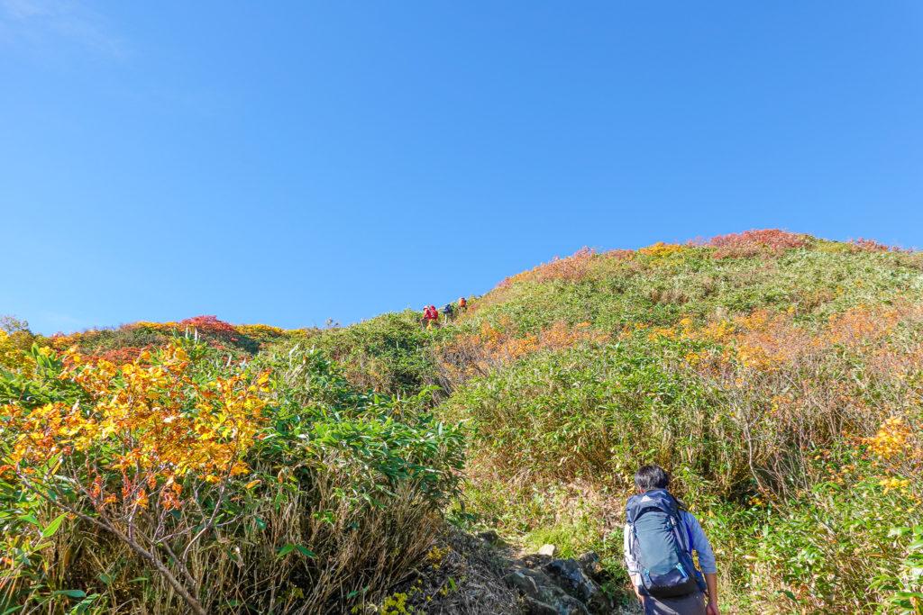 越後駒ヶ岳(魚沼駒ヶ岳)・前駒、駒ノ小屋までは急登です2