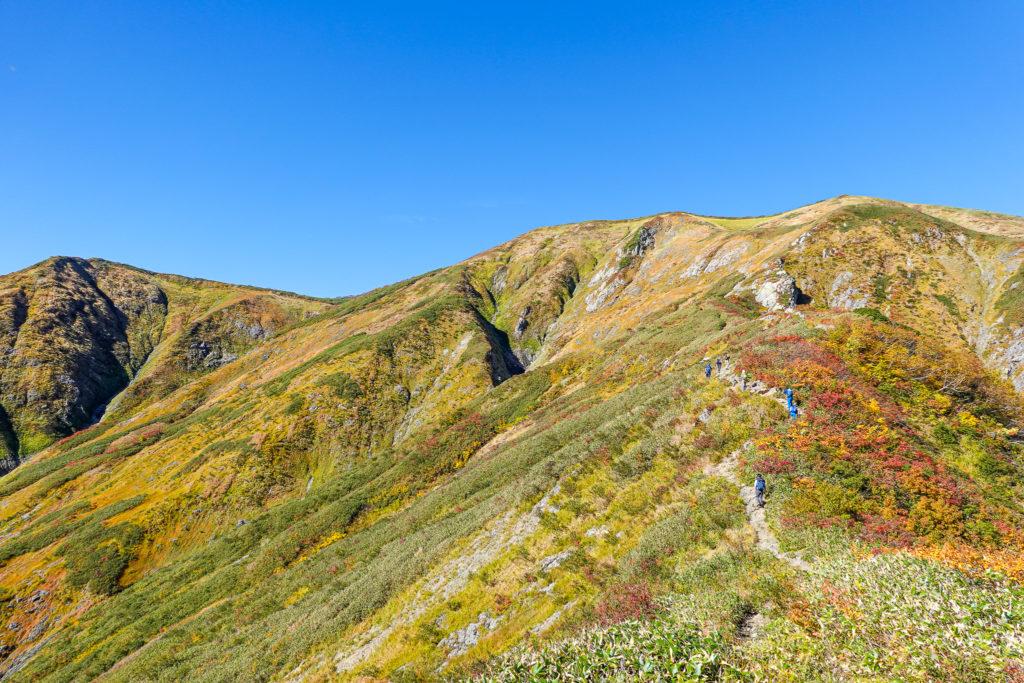 越後駒ヶ岳(魚沼駒ヶ岳)・前駒からの景色