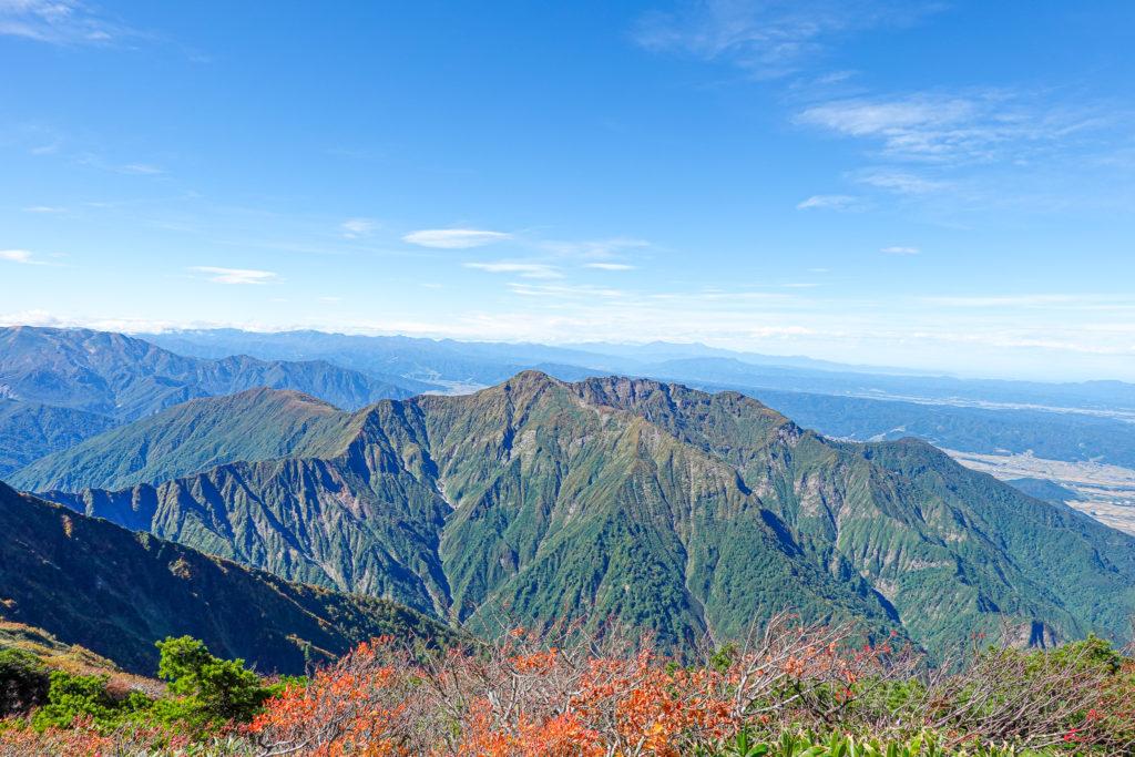 越後駒ヶ岳(魚沼駒ヶ岳)・越後駒ヶ岳からの八海山