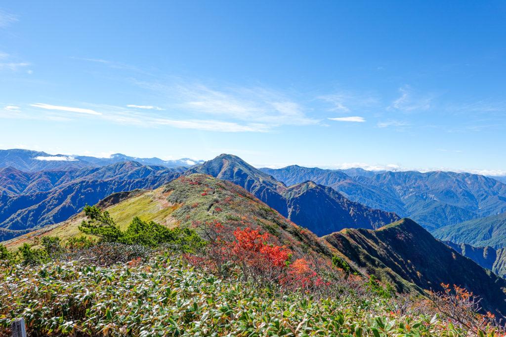越後駒ヶ岳(魚沼駒ヶ岳)・越後駒ヶ岳からの中ノ岳