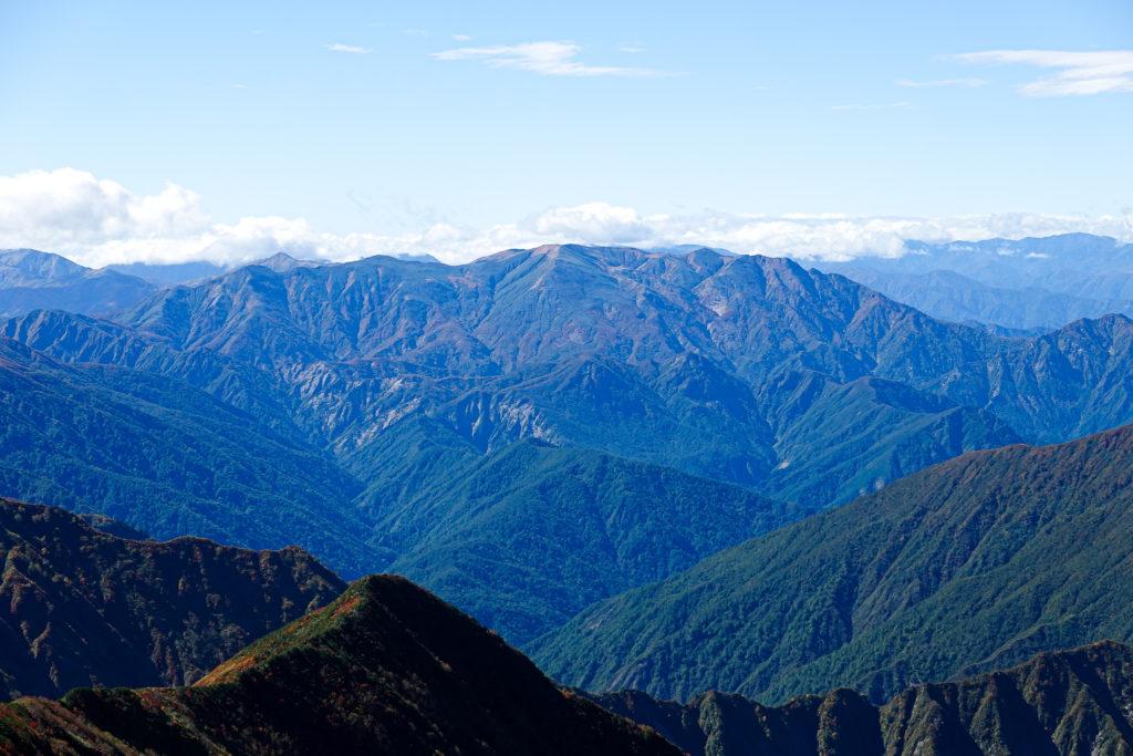 越後駒ヶ岳(魚沼駒ヶ岳)・越後駒ヶ岳からの巻機山