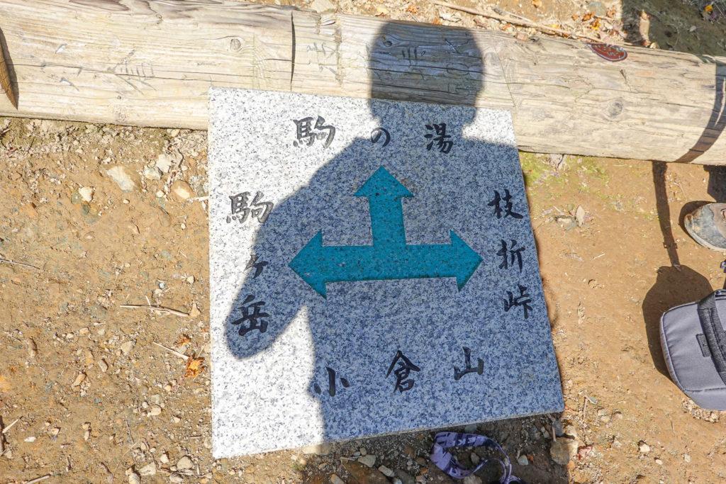 越後駒ヶ岳(魚沼駒ヶ岳)・小倉山の分岐