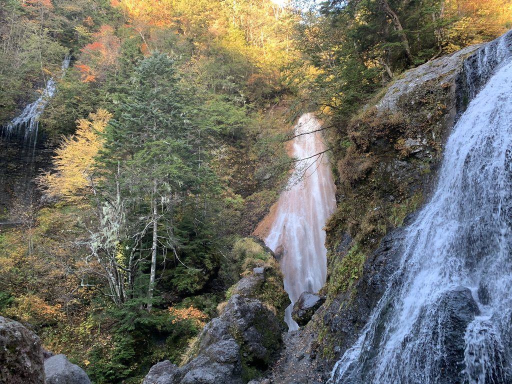 乗鞍岳・日本の滝百選・三本滝・滝その1、その2、その3