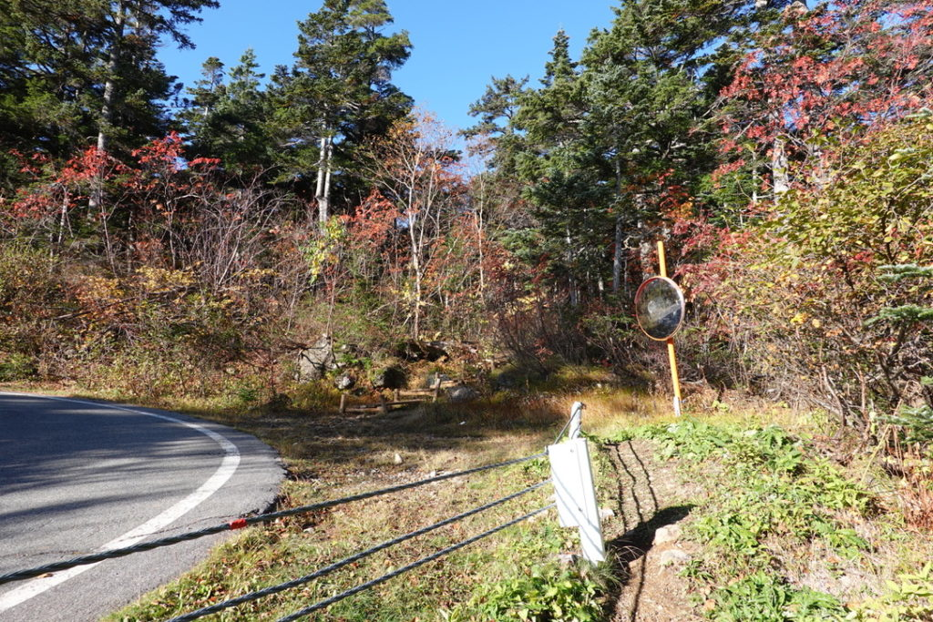 乗鞍岳・荒田沢橋から冷泉小屋へ・車道から登山道へ