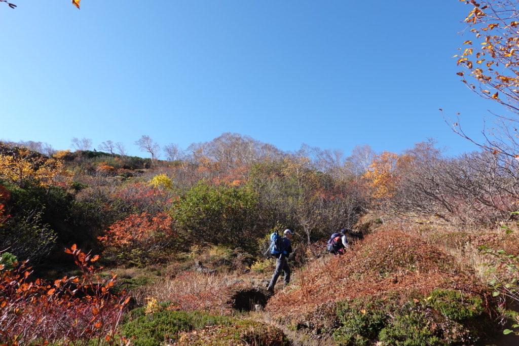 乗鞍岳・乗鞍エコーラインの登山道ではじめて登山客に会う