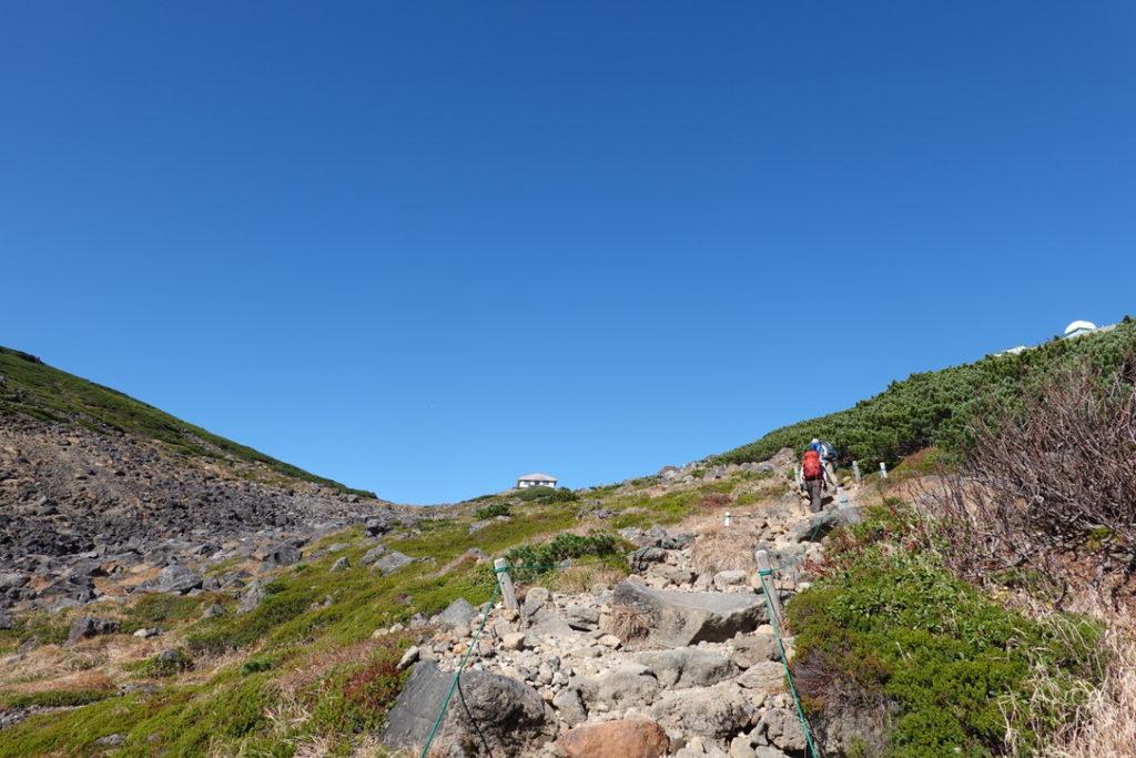 乗鞍岳・肩の小屋口から肩の小屋へ・その2