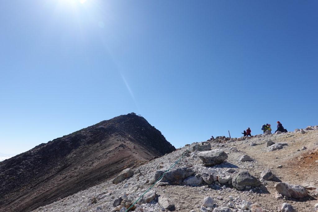 乗鞍岳・剣ヶ峰と蚕玉岳