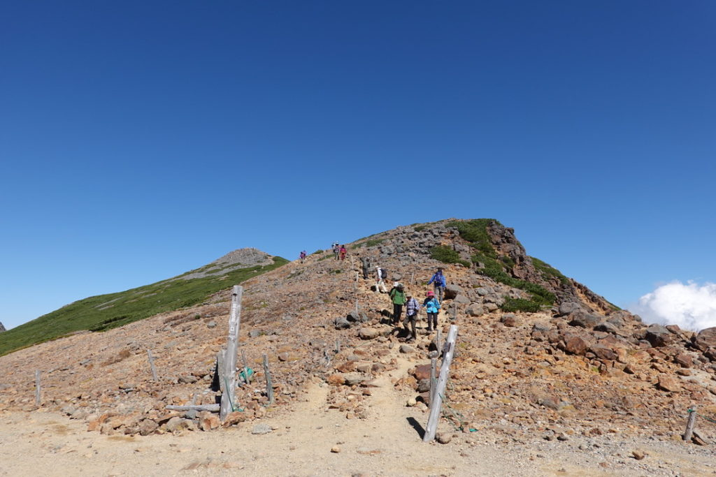 乗鞍岳・富士見岳登山口