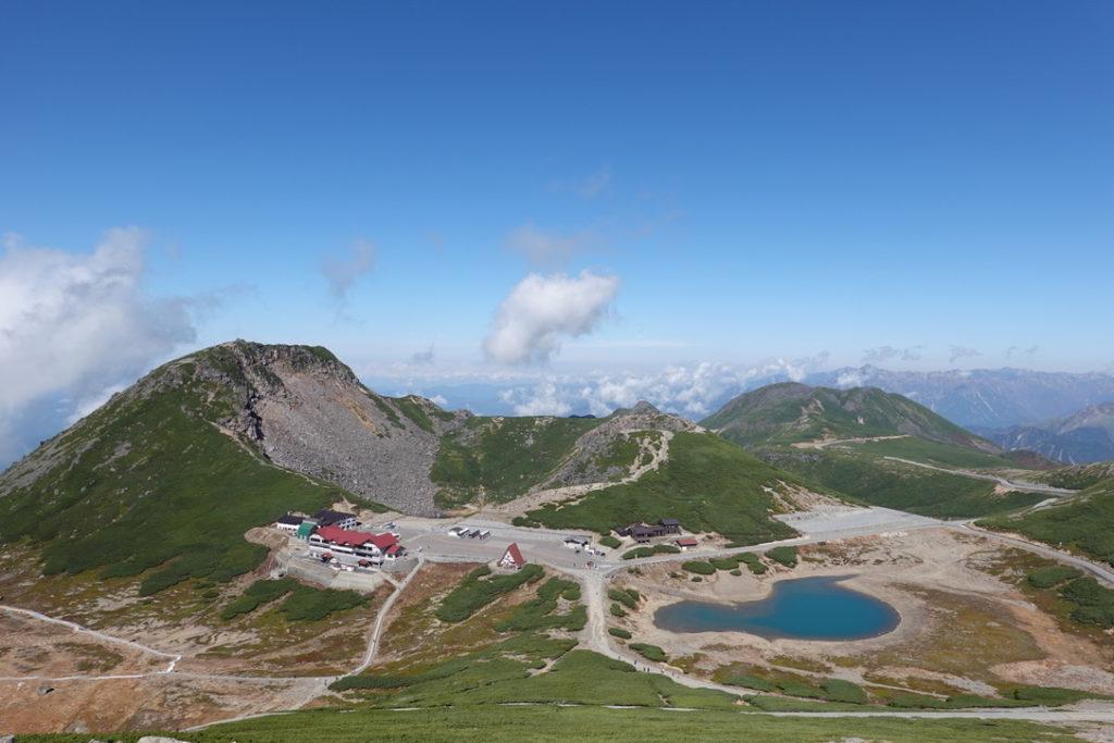 乗鞍岳・富士見岳山頂からの乗鞍畳平