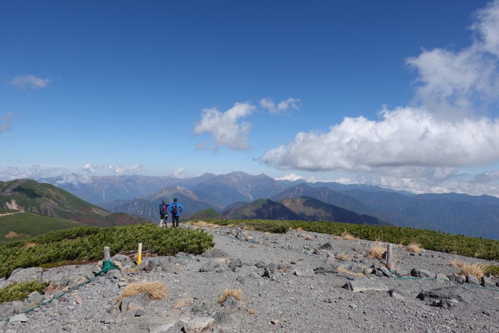 乗鞍岳・大黒岳山頂からの北アルプス