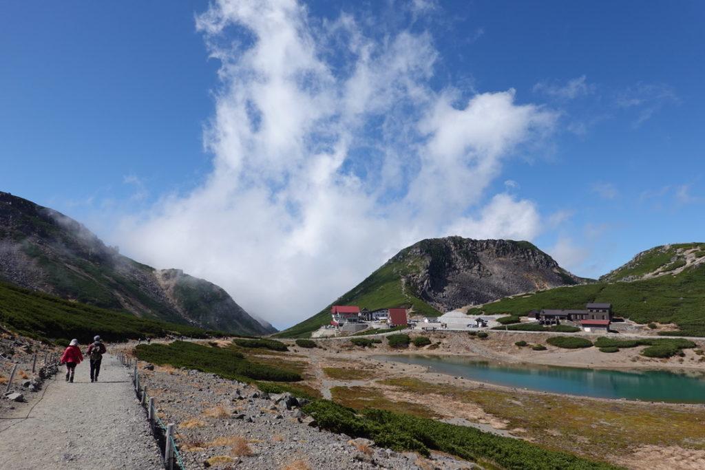 乗鞍岳・乗鞍畳平と鶴ヶ池、恵比寿岳