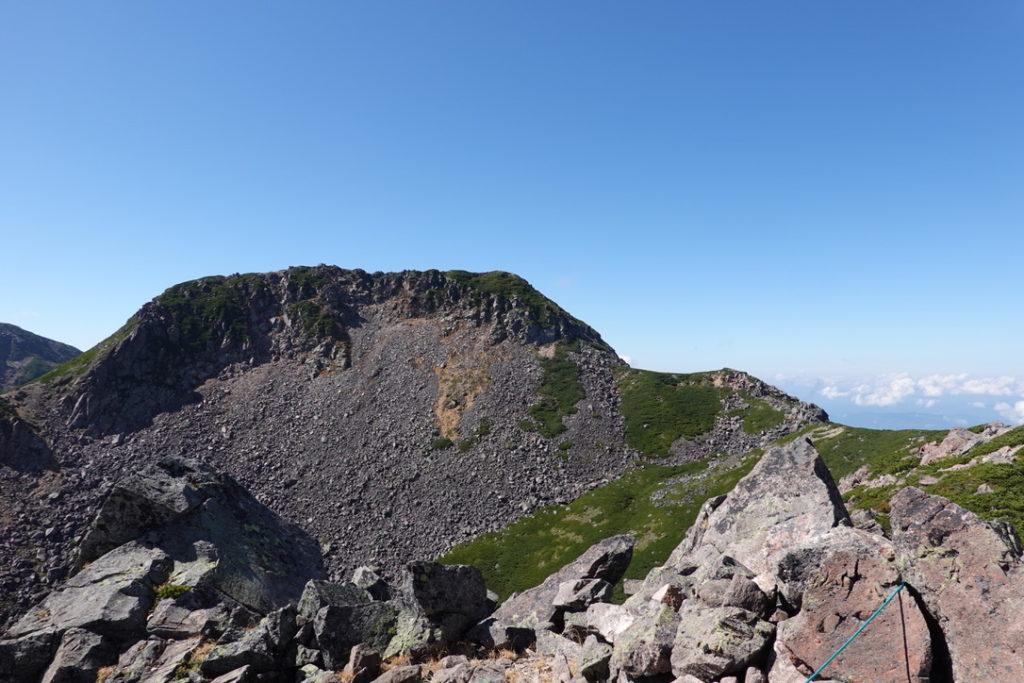 乗鞍岳・魔王岳山頂からの恵比寿岳