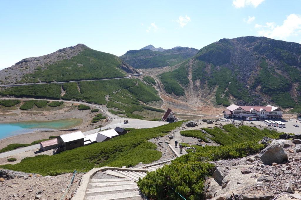 乗鞍岳・魔王岳からの富士見岳、剣ヶ峰、摩利支天岳、不動岳