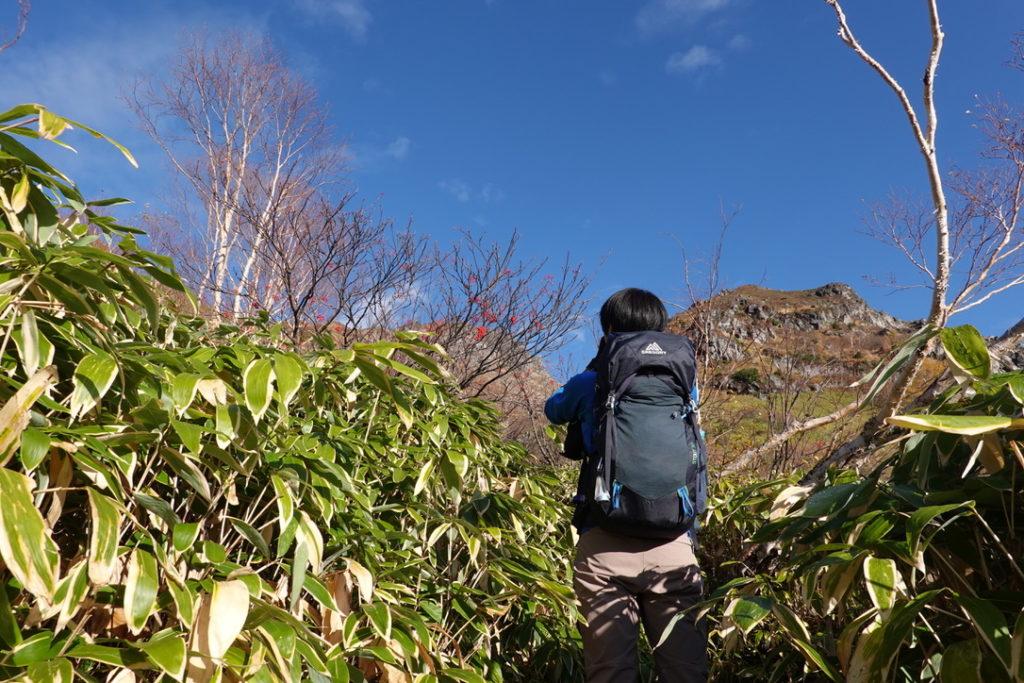 焼岳・紅葉の新中の湯ルート・広場から焼岳北峰へ・その3