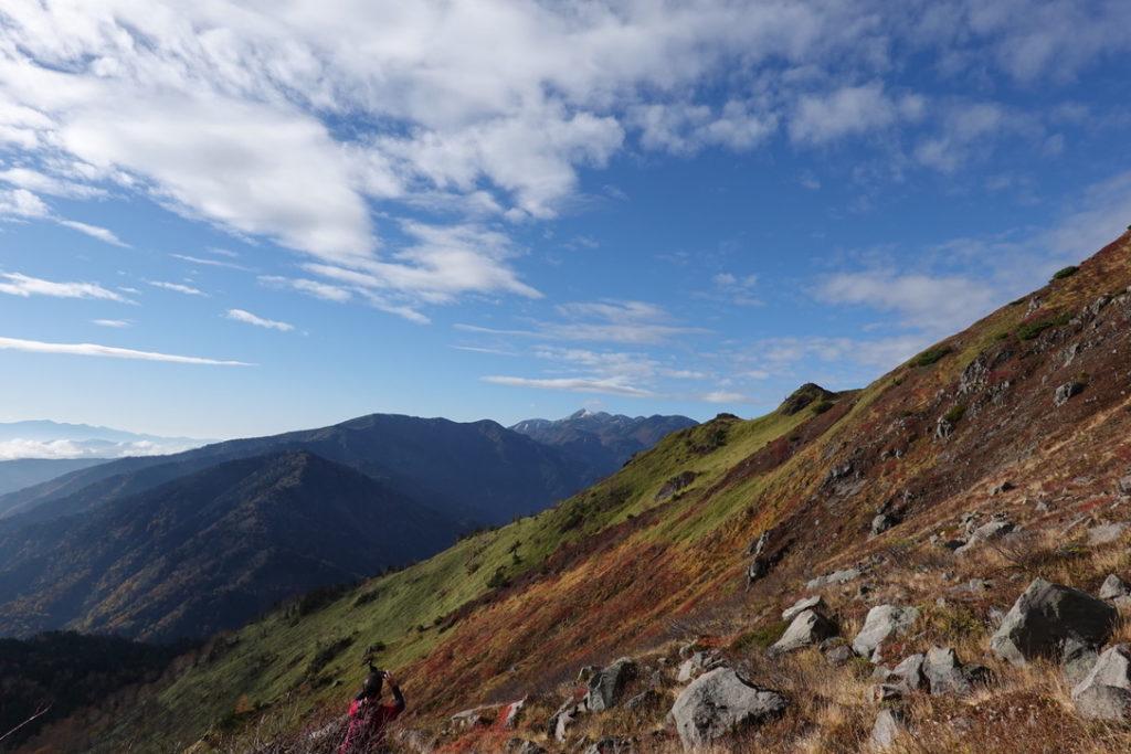 焼岳・紅葉の新中の湯ルート・焼岳からの乗鞍岳