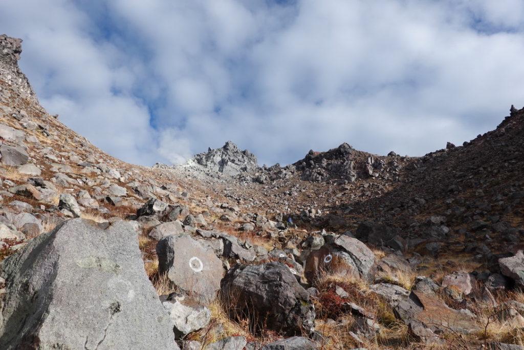 焼岳・紅葉の新中の湯ルート・焼岳(南峰・北峰)