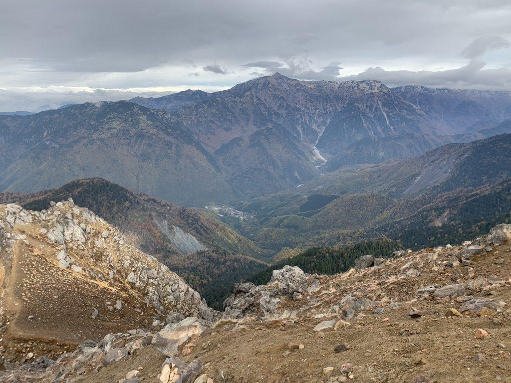 焼岳・焼岳・北峰山頂からの新穂高温泉、笠ヶ岳