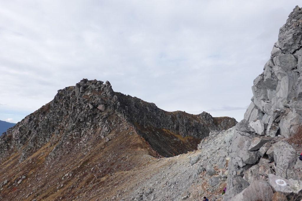 焼岳・北峰から南峰・見納め