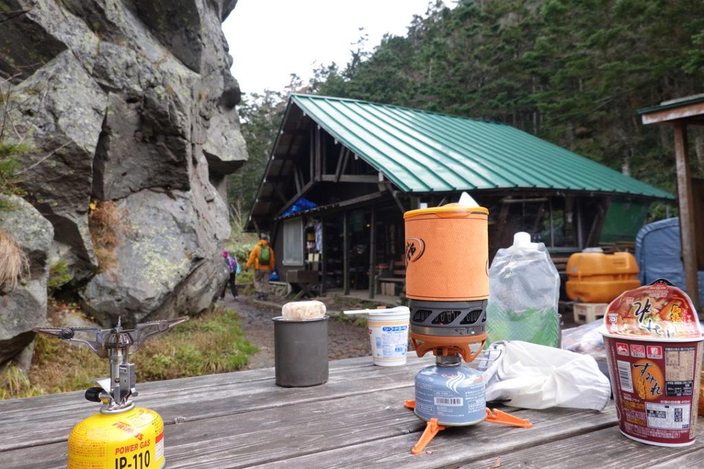 焼岳・焼岳小屋・お昼ご飯