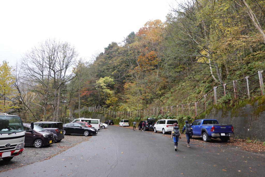 焼岳・新中の湯ルート・焼岳登山口駐車場