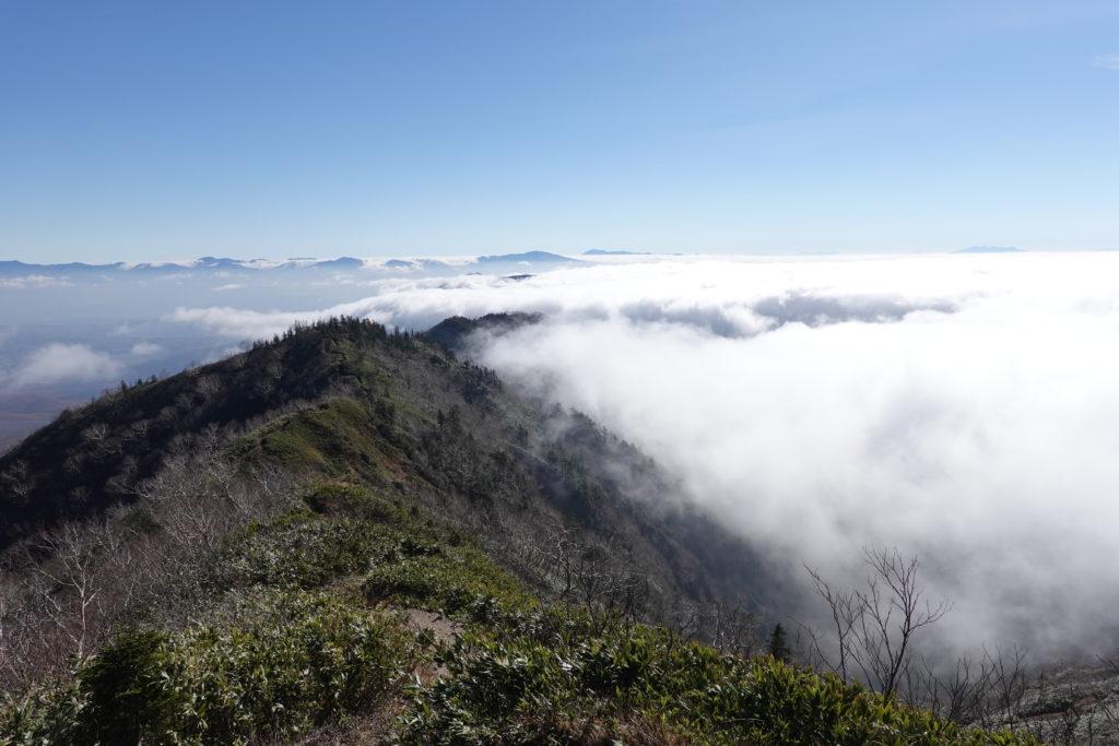 高妻山・戸隠山・九勢至からの五地蔵山や今まで来た道を振り返る