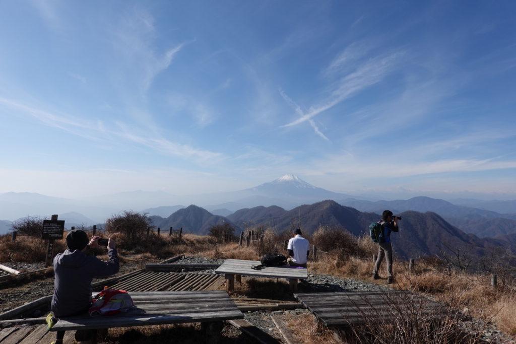 蛭ヶ岳・蛭ヶ岳山頂からの富士山