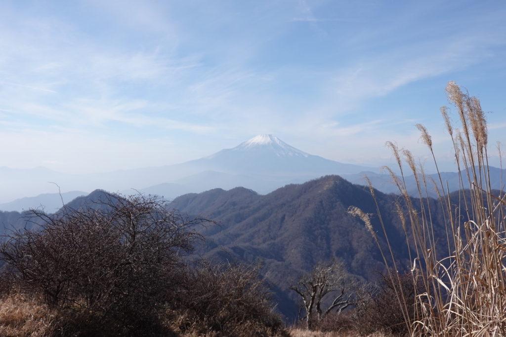 蛭ヶ岳・蛭ヶ岳山頂から檜洞丸、富士山を望む