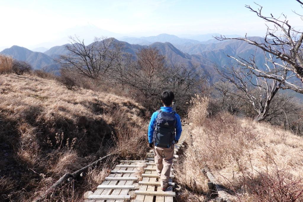 蛭ヶ岳・蛭ヶ岳山頂から下山開始