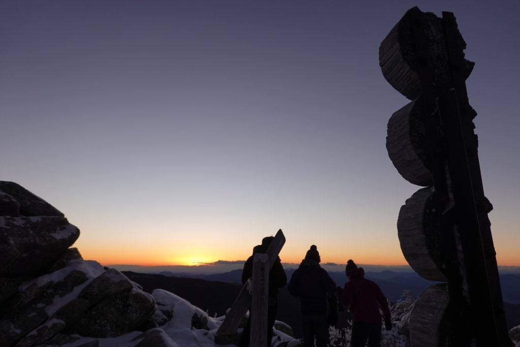 金峰山・金峰山山頂・日の出前
