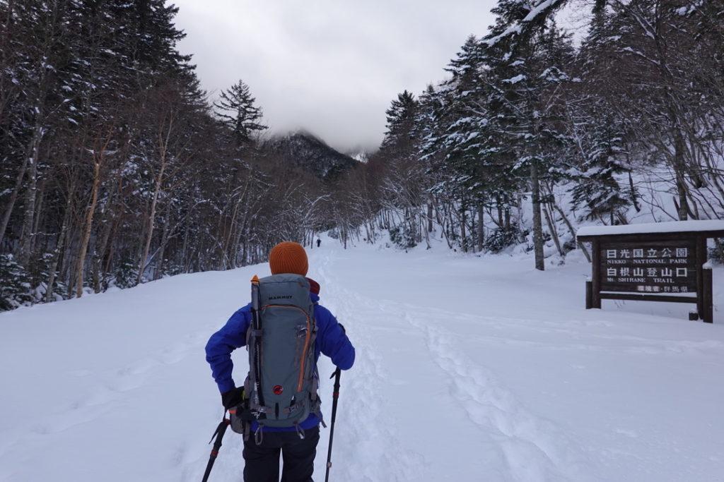 積雪期・日光白根山・菅沼登山口