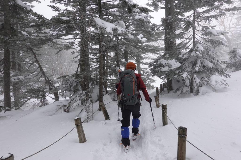 積雪期・日光白根山・弥蛇ヶ池まであと少し
