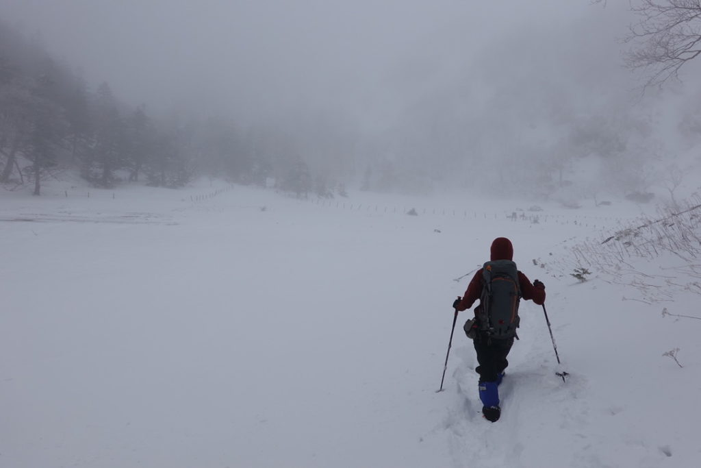 積雪期・日光白根山・弥蛇ヶ池